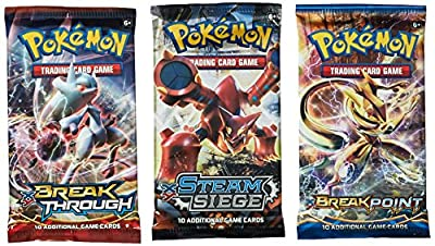 Pokemon TCG: 3 Booster Packs – 30 Cards Total  Value Pack Includes 3 Blister Packs of Random Cards   100% Authentic Branded Pokemon Expansion Packs   Random Chance at Rares & Holofoils by Pokemon
