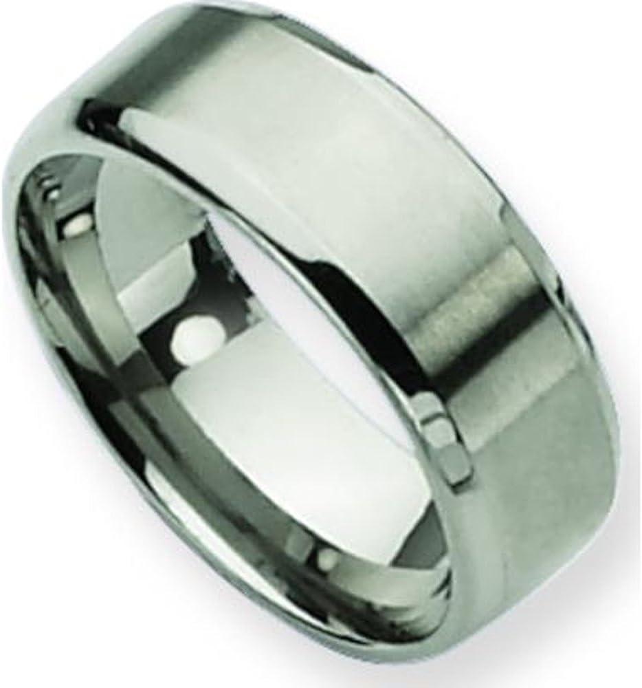 Titanium 8mm Luxury goods Brushed New mail order Mens Wedding Band Sz 10.5 Ring