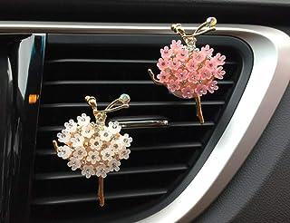 Crystal Shoes & Magic Bag Car Accessories Cute Car Air Freshener Bling Crystal & Diamond Air Vent Clips Automotive Interior Trim Car Decorations GIF (Crystal Dancing Girls)