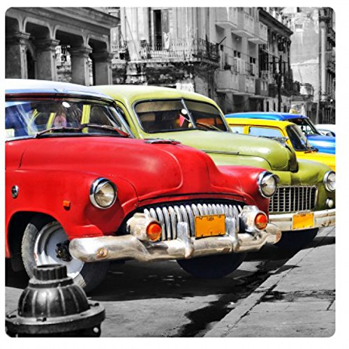 1art1 Autos - Cuba Cars Acrylglas-Bild 19 x 19 cm