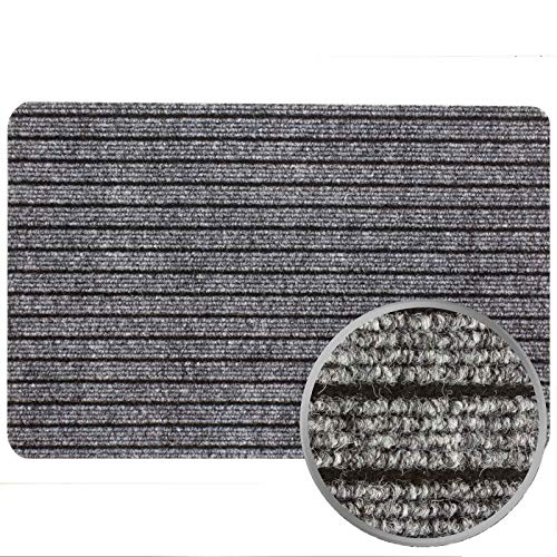 Fußmatte Türvorleger Fußabtreter Türmatte ATLAS in 40x60 50x80, Größen:ca. 40 x 60 cm, Farben:Grau
