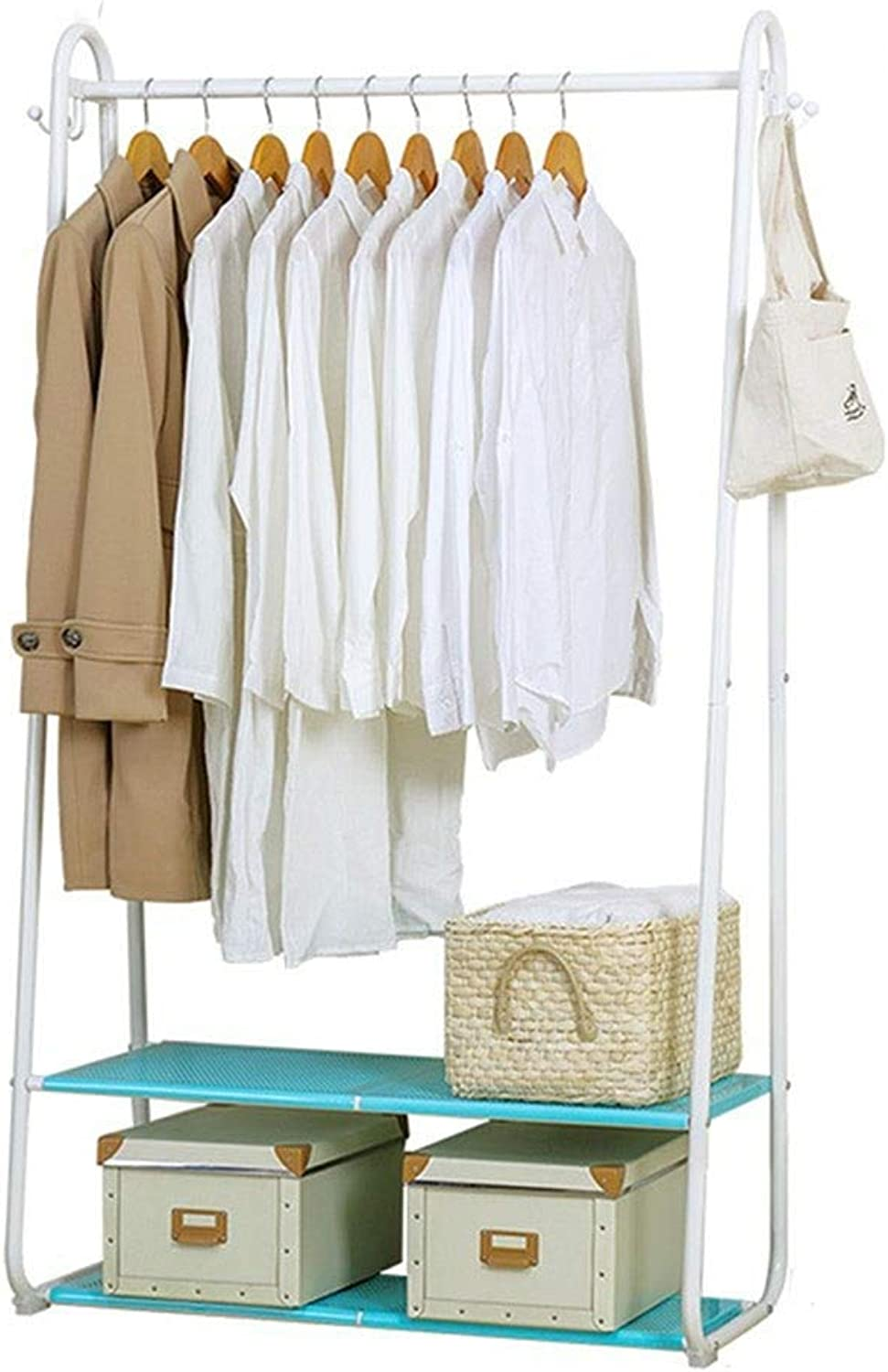 Yalztc-zyq16 Hanger Indoor Bedroom Simple Modern Hall Clothes Shelves Put Something Landing Drying Racks