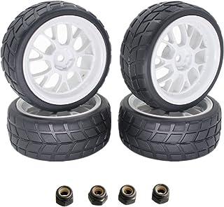 4x RC Tires & Wheels Rims Sets Y Shaped Width:26mm 12mm Hex Drive Hub