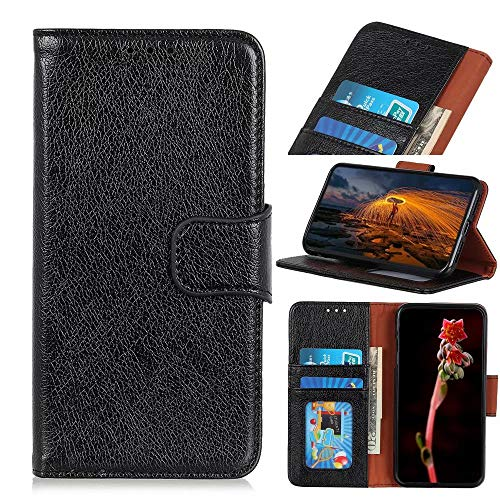 FTRONGRT Cover Compatible for Oppo A74 5G Case, Flip Cover with [Card Slot] [Bracket] [Wallet], Magnetic PU Leather Wallet case for Oppo A74 5G. (Black)