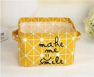 MJY Paniers à linge créatifs en coton et lin jaunes (paniers à linge créatifs (longueur: 20 cm * largeur: 15 cm * hauteur:...