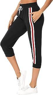 Sykooria Pantaloni Donna Pantaloni da Yoga Estivi Pantaloni Capri Sportivi Morbidi Leggeri