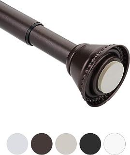 Amazer Spring Tension Curtain Rod, 26-42 Inches Short Rod Doorway Curtain Rod, Rust-Resistance Adjustable Curtain Rod, Bronze