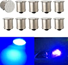 Nuokexin 10Pcs 1156 COB 12-SMD p21w R5W Auto Led Car Bulbs BA15S Turn Signal Reverse Lights (Blue)