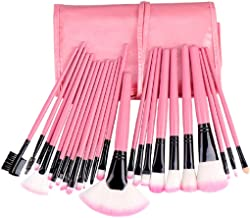 STELLAIRE CHERN Makeup Brush Set 24pcs Wood Handle Essential Makeup Kit with Travel Pouch - Pink