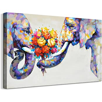 Unframed Art Animal Flower Modern Wall Oil Painting Canvas Print Home