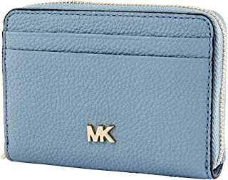 Michael Kors Small Pebbled Leather Wallet- Powder Blue