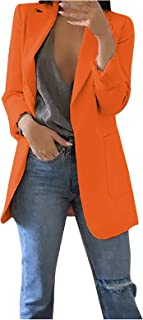 Inner Woman's Fashion Casual Slim Long Sleeves Suit Jackets Plain Color Outwear Blazer Open Front Office Cardigan Business...