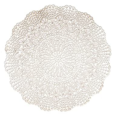 Benson Mills Elegant Devon Pressed Vinyl Placemat (Set of 4), Devon-Prosecco