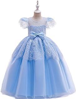 BCSHF Vestido de Princesa de Las niñas Vestido de Princesa Vestido Largo Vestido de Encaje Falda de Las Muchachas niños de...