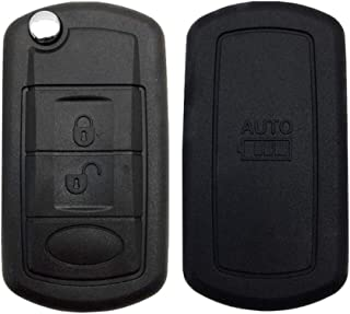 Remote Flip Car Key Shell Case Fob Styling Shell Cover 3 Buttons for Land Rover Range Rover Sport LR3 Discovery with Uncut Blade Blank