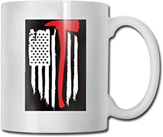 American Flag Firefighter Fashion Coffee Cup Porcelain Mugs