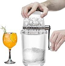 Mini machine à glaçons - Broyeur à glace manuel - Coupe-glace avec lames en acier inoxydable - Pour enfants