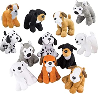 Bottles N Bags Plush Puppy Dog Stuffed Dog Animal Toys | Variety Pack Made of Soft Plush ● Great as a Party Favor, Gift, or Companion ● Pretend Play for Kids ● Dozen Puppy Assortment (12 Pack)