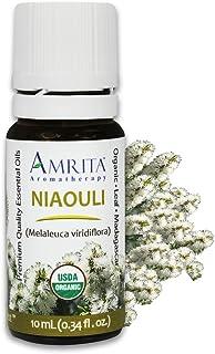 AMRITA Aromatherapy: Organic Niaouli Essential Oil - Melaleuca viridiflora - 100% Pure Undiluted & Therapeutic Grade, Prem...
