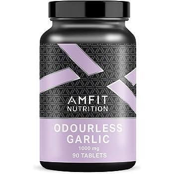 Marchio Amazon - Amfit Nutrition, Aglio inodore, 1000 mg, 90 compresse