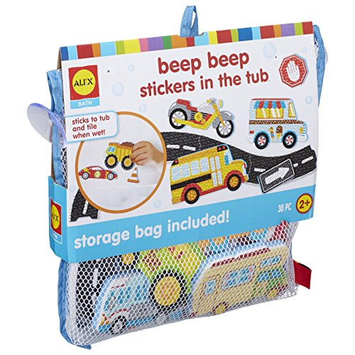Buy Alex Bath Beep Beep Stickers in The Tub Bath Toy Kids Bath Activity