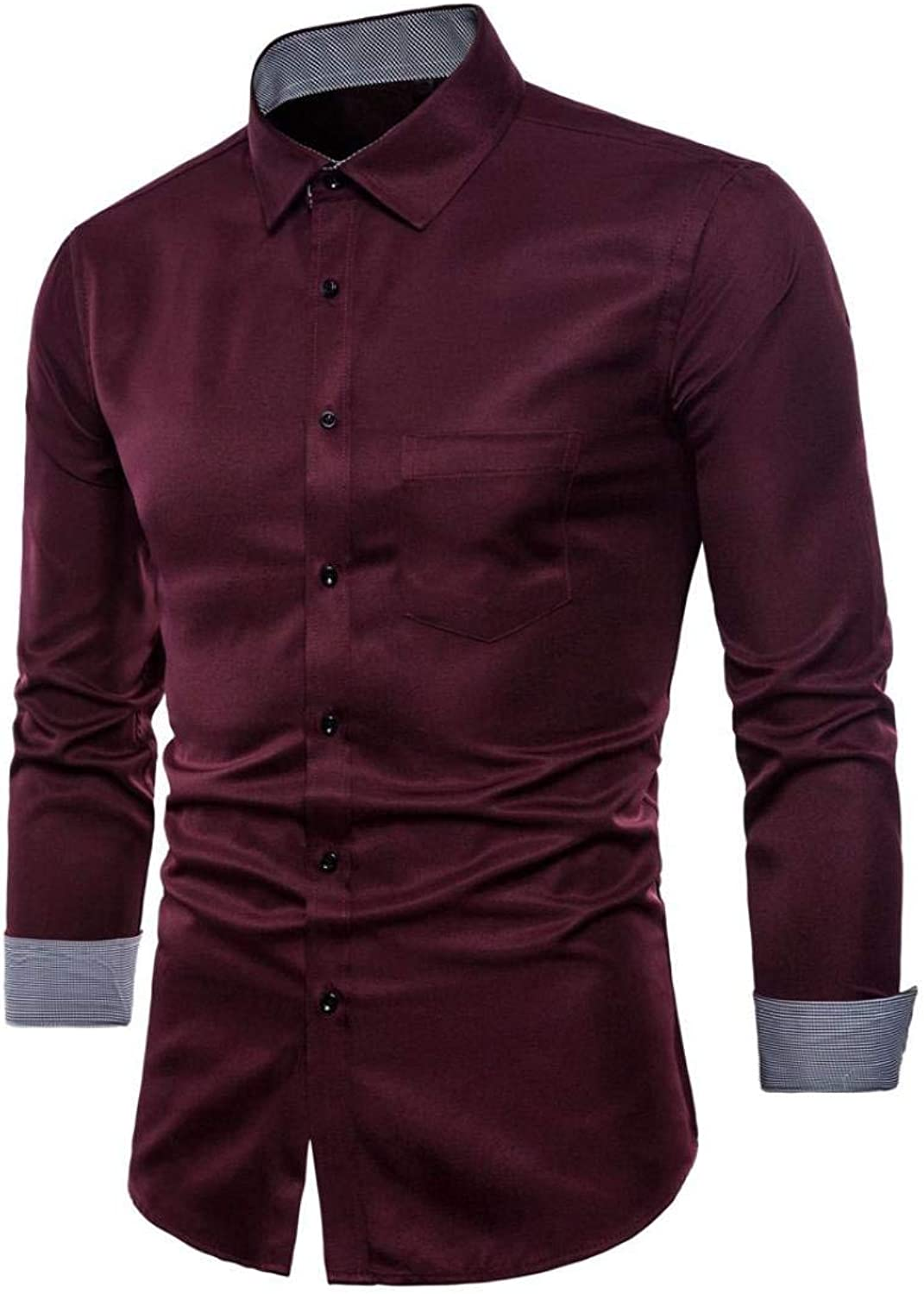 Upper outer outer outer garment Men's Long Sleeve Oxford Formal Hatsuits Casual Suits Slim Elegant Leisure Stylish Fit T-shirt Shirts Blouse Top d3c63e