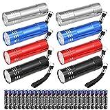8 Pezzi Mini Led Torce Portachiave Set, Torcia Portatile Inclusa AAA Batterie, Multiuso Le...