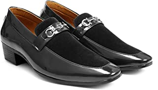 BXXY Mens Height Increasing Patent Material Casual Moccasins Shoes All Occasions