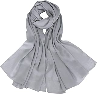 Silk Wrap Headwear NJGV Women Ethnic Abaya Islamic Scarves Muslim Middle East Hijab Solid Scarf