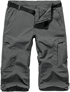 Women's Quick Dry Cargo Shorts,Outdoor Casual Straight Leg Capri Long Shorts for Hiking Camping Travel