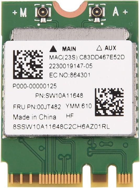 Heayzoki Mini Adaptador de Red inalámbrico, Tarjeta WG NGFF/M2 de Banda Dual 2.4G/5G, 300 Mbps Bluetooth 4.0 WiFi 2 en 1 Tarjeta Compatible con 802.11 A/C (Compatible con 802.11A/B/G/N.)