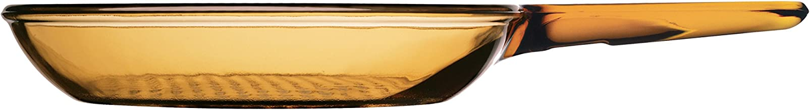"""Pyrex Corning Visions Cookware Amber 7"""" Skillet"""