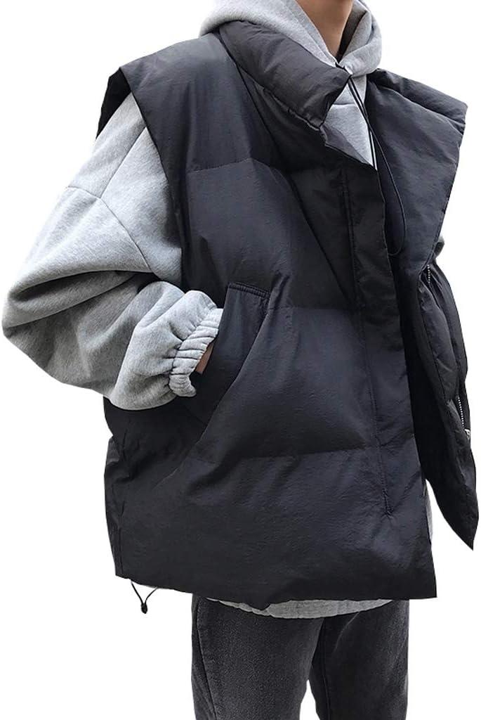 TXXM Cotton Vest Winter Men's Thick Vest Sleeveless Jacket Large Size Multi-Pocket Outdoor Vest Shoulder Coat (Color : Black, Size : XL)