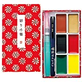 Kuretake IRODORI KOBAKO Red, Gansai Tambi 6 colors set, Handcrafted, Professional-quality pigment inks for artists and crafters, AP-Certified, Blendable, Show up on dark papers, Made in Japan