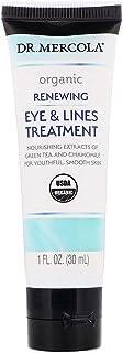Dr. Mercola, Organic Renewing Eye and Lines Treatment, 1 fl oz (30 mL), with Vitamin E, non GMO, Soy Free, Gluten Free, Cruelty Free, USDA Organic