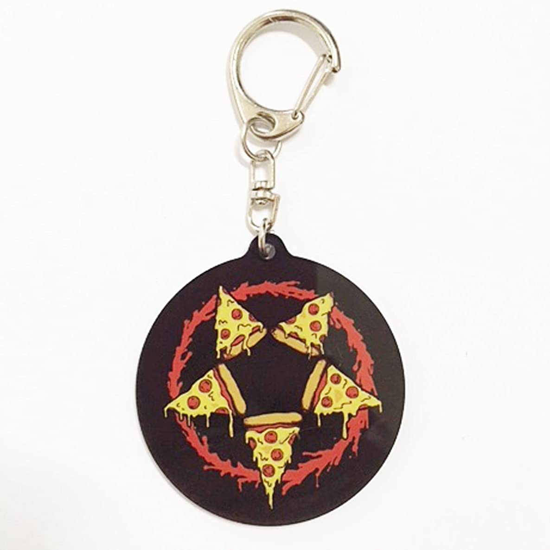 Pizza Pentagram Acrylic Keychains