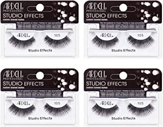 Ardell Studio Effects Lashes 105 Black, 4 Pack