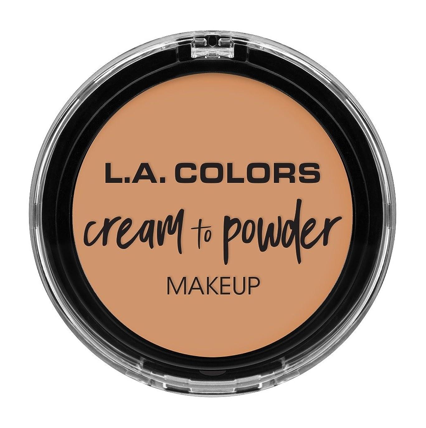 自分自身なす避難L.A. COLORS Cream To Powder Foundation - Natural (並行輸入品)