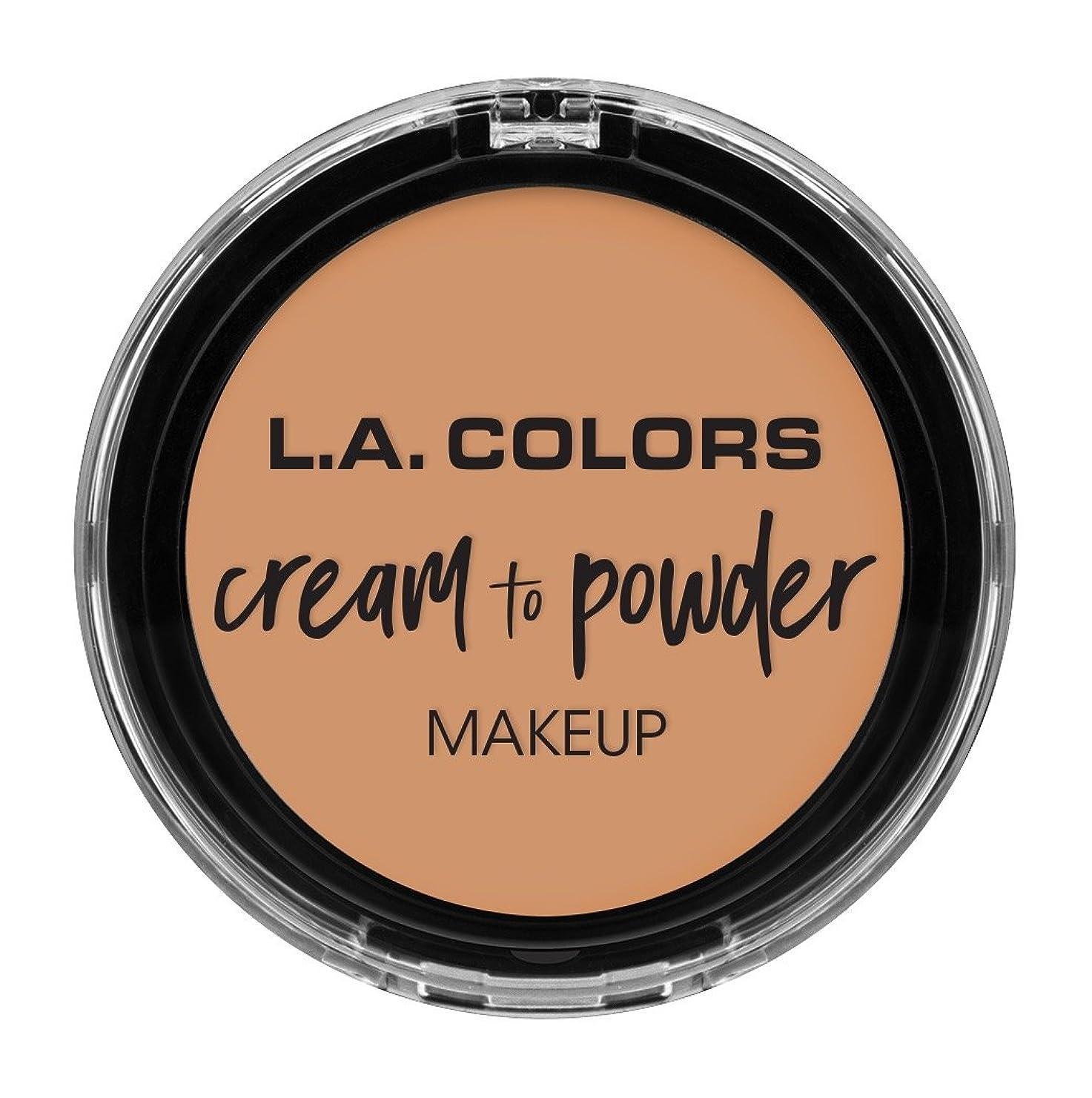 構成ハング排除するL.A. COLORS Cream To Powder Foundation - Natural (並行輸入品)