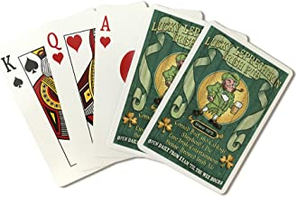 Leprechaun Irish Pub - Vintage Sign (Playing Card Deck - 52 Card Poker Size with Jokers)