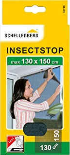 Schellenberg 50715 nylon horrengaas, muggen en insectengaas inclusief bevestigingstape, bevestiging zonder te boren, 130x1...