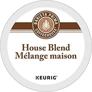 Barista Prima Coffeehouse HOUSE BLEND 4 Pack of 24 K-Cups for Keurig Brewers (Packaging May Vary)