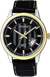 CITIZEN Mens Quartz Watch, Analog Display and Leather Strap - BI1054-12E