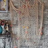 XINLINTRA Rete da Pesca Cucita a Mano/Decorazione per la Tua casa o Ristorante, Stile mediterraneo, Colore: 1.5M*2M Bianco