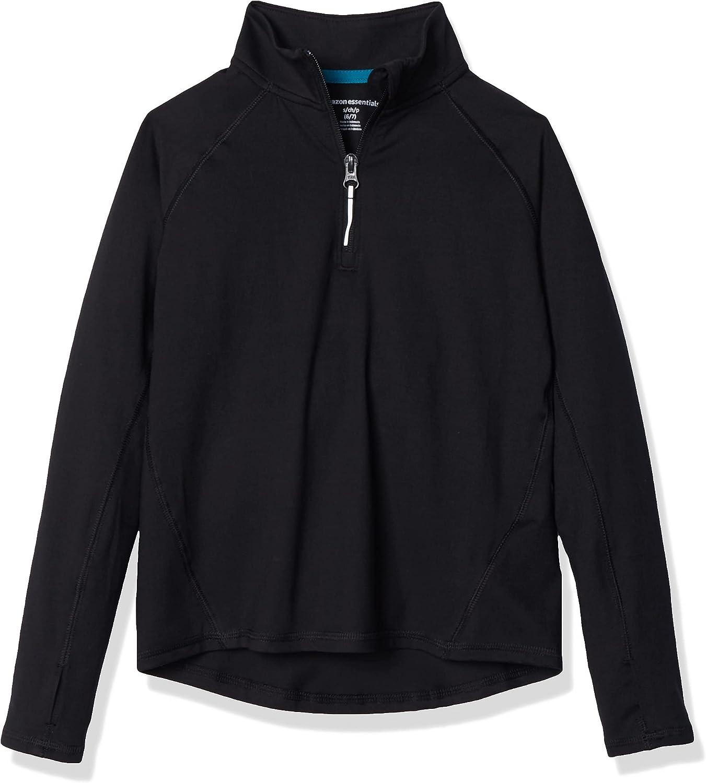 Max 56% OFF Amazon Essentials Girls' Half-Zip Max 41% OFF Jacket Active
