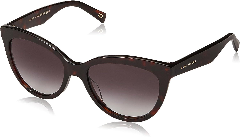 Marc Jacobs Women's Round Slight Cat Eye Sunglasses