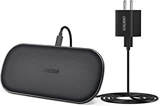 CHOETECH Dual Wireless Charger, 5 Coils Qi Certified Fast Wireless Charging Pad Compatible with iPhone SE 2020/11/11 Pro/11 Pro Max/XS Max/X, Galaxy S20+/S10/Note 10, AirPods Pro(Adapter Included)