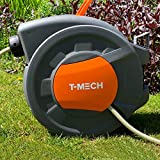 T-<span class='highlight'>Mech</span> Hose Pipe Reel 20m   2m Auto Rewind Wall-Mounted 8 Spray Nozzle Gun, Neat Retractable Hose-Pipe With Bracket And Fixings, 180° pivot