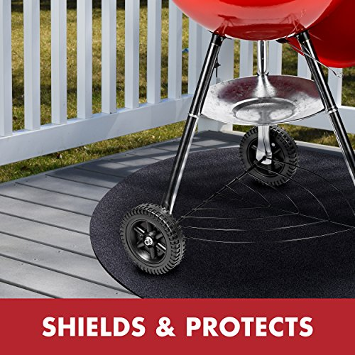 GrillTex Under the Grill Protective Deck and Patio Mat, 27 inch, Round