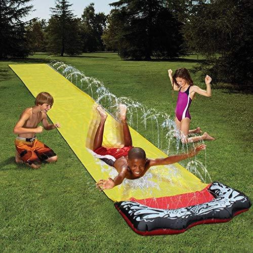 4,8M Niños Water Toy Waterslide Verano Césped Al Aire Libre Hierba Agua Hoja Hoja Hombre Hombre Niños Surfing Tablero Tablero Jardín Juguetes 01 Yellow